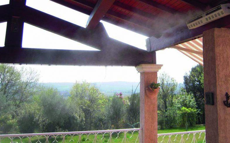 Retrouvez le confort sur votre terrasse en plein été grâce au kit de brumisation à haute pression